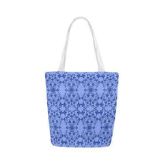 Blue Vintage Canvas Tote Bag