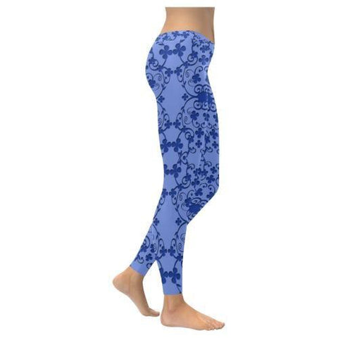 Blue Vintage Low Rise Leggings - dianadu-designs