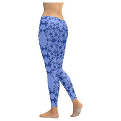 Blue Vintage Low Rise Leggings