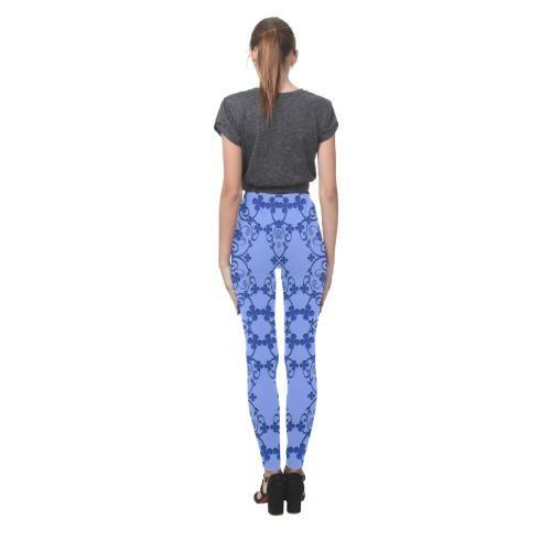 Blue Vintage Women's High-Waist Leggings - dianadu-designs