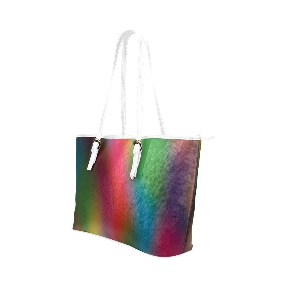 Blurred Lines Leather Tote Bag - dianadu-designs