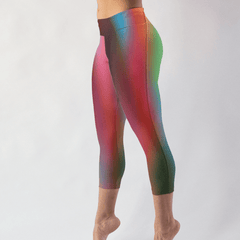 Blurred Lines Low Rise Capri Leggings - dianadu-designs