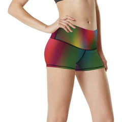 Blurred Lines Women's Yoga Shorts