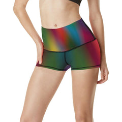 Blurred Lines Women's Yoga Shorts - dianadu-designs