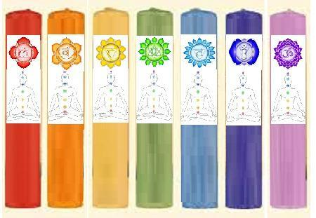Chakra Pillar Candles - dianadu-designs