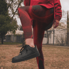 Image of Crimson Web High-Waist Leggings - dianadu-designs