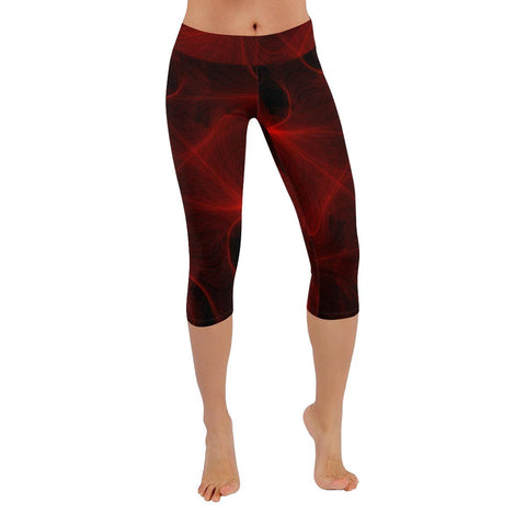 Crimson Web Low Rise Capri Leggings - dianadu-designs