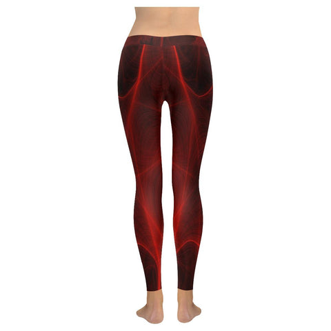 Crimson Web Low Rise Leggings - dianadu-designs
