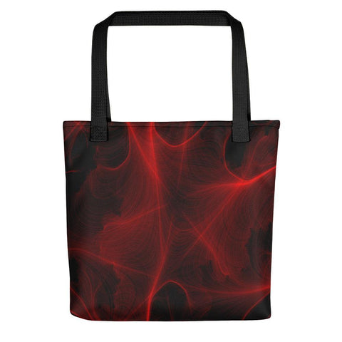 Crimson Web Tote Bag - dianadu-designs