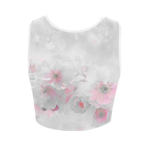 Delicate Blossom Women's Fitted Crop Top - dianadu-designs