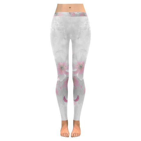 Delicate Blossoms Low Rise Leggings - dianadu-designs