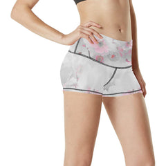 Delicate Blossoms Women's Yoga Shorts