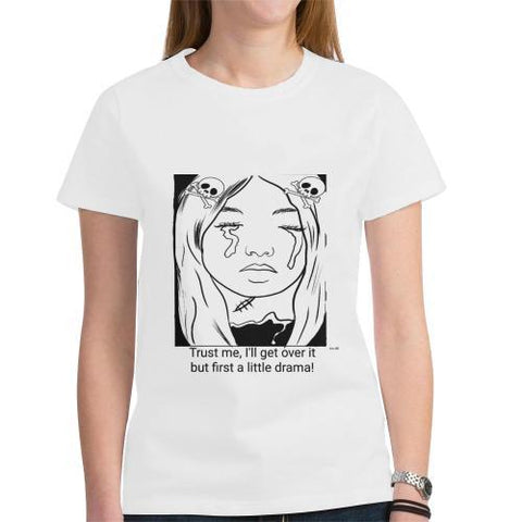 Drama Queen - Women's Short Sleeve T-Shirt - dianadu-designs