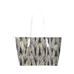 Dream Weaver Leather Tote Bag
