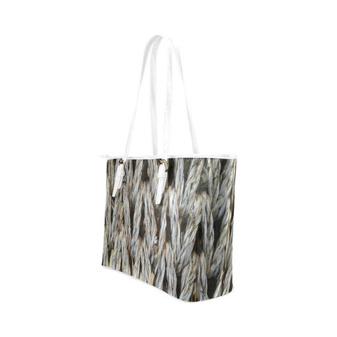 Dream Weaver Leather Tote Bag - dianadu-designs