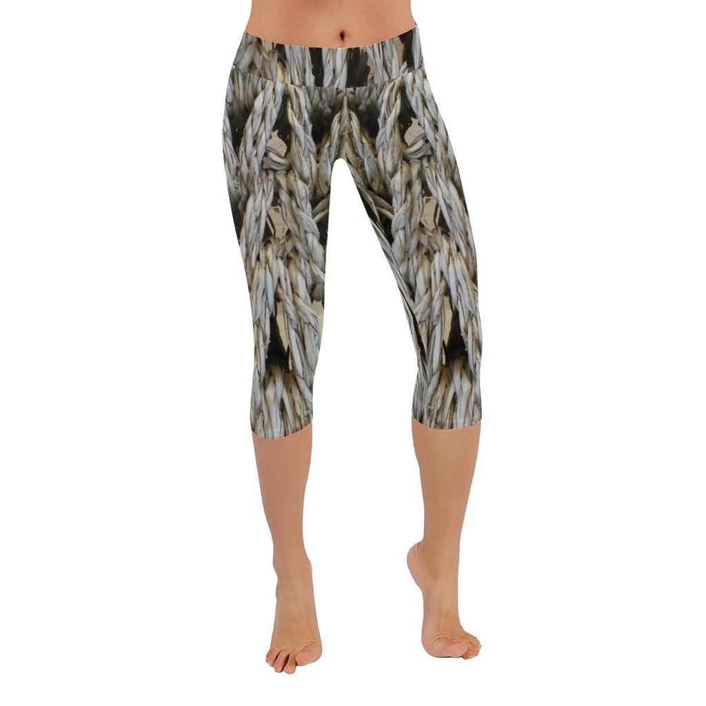Dream Weaver Low Rise Capri Leggings - dianadu-designs