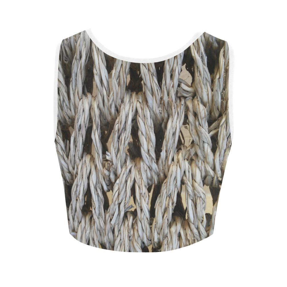 Dream Weaver Women's Fitted Crop Top - dianadu-designs