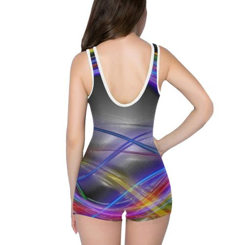 Electric Lights Women's One Piece Romper - dianadu-designs