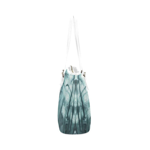 Ethereal Marshland Leather Tote Bag - dianadu-designs