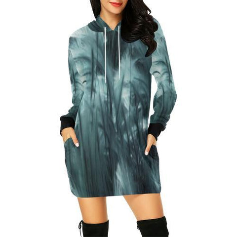Ethereal Marshland Women's Hoodie Mini Dress - dianadu-designs