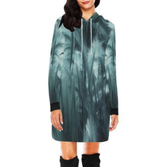 Ethereal Marshland Women's Hoodie Mini Dress