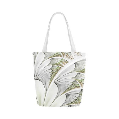 Feathery Elegance Canvas Tote Bag - dianadu-designs