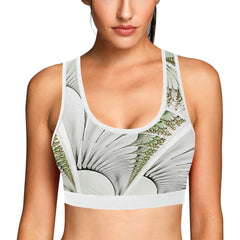 Feathery Elegance Women's Sports Bra