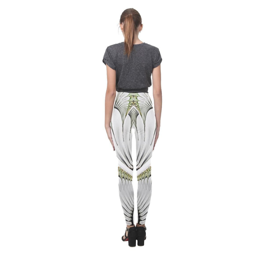 Feathery Elegance Women's High-Waist Leggings - dianadu-designs