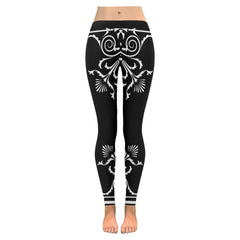 Filigree Women's Low Rise Leggings - dianadu-designs