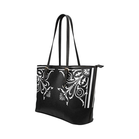Filigrees Leather Tote Bag - dianadu-designs