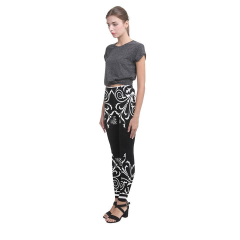 Filigrees Women's High-Waist Leggings - dianadu-designs