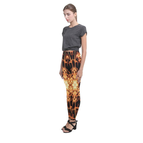 Fire Mandala Women's High-Waist Leggings - dianadu-designs