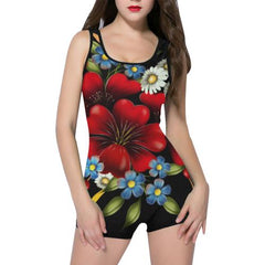 Flower Garden Women's One Piece Romper - dianadu-designs