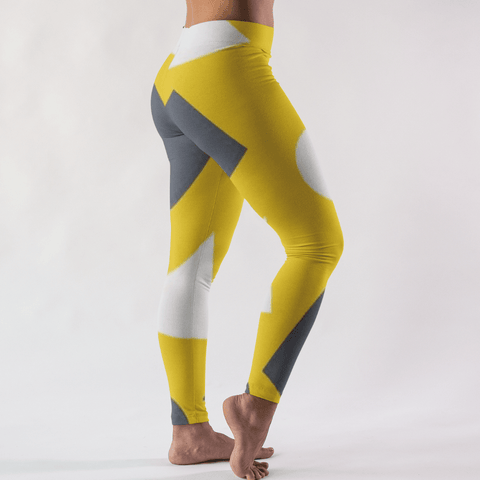 Geometric Abstract High-Waist Leggings - dianadu-designs