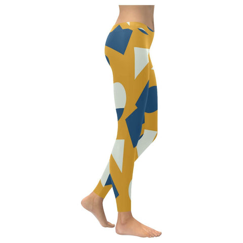 Geometric Abstract Low Rise Leggings - dianadu-designs