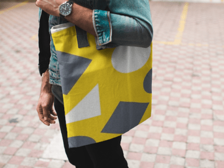 Geometric Abstract Tote Bag - dianadu-designs