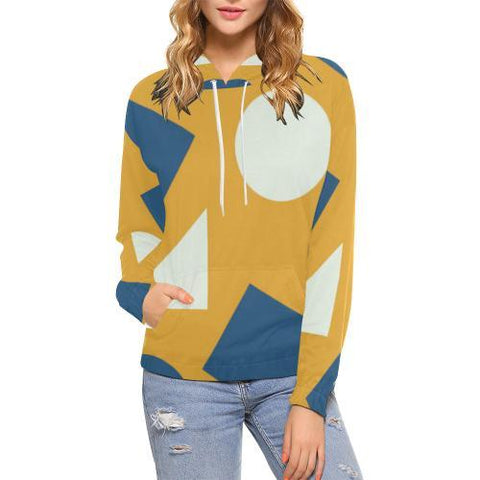 Geometric Abstract Women's Hoodie - dianadu-designs