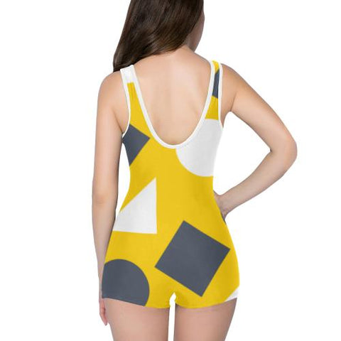 Geometric Abstract Women's One Piece Romper - dianadu-designs