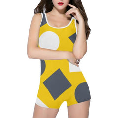Geometric Abstract Women's One Piece Romper