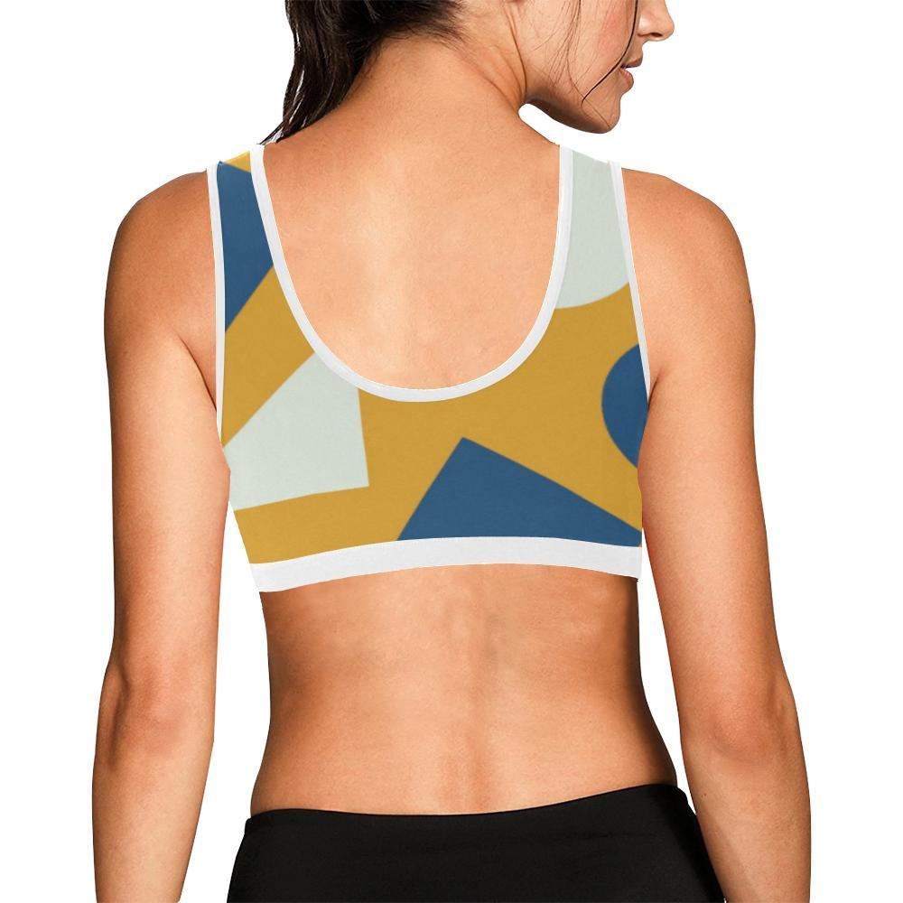 Geometric Abstract Women's Sports Bra - dianadu-designs
