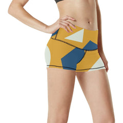 Geometric Abstract Women's Yoga Shorts