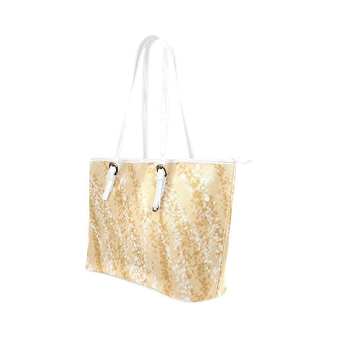Golden Wheat Leather Tote Bag - dianadu-designs
