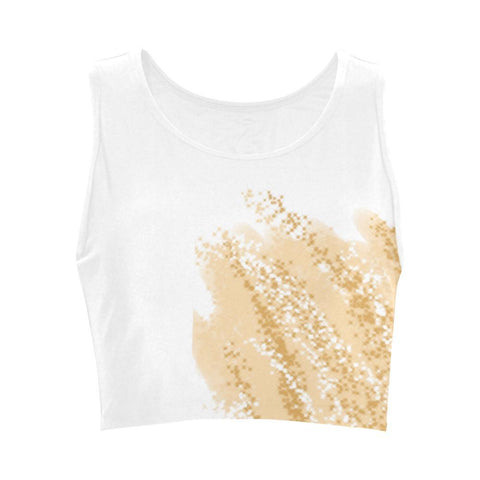 Golden Wheat Women's Fitted Crop Top - dianadu-designs
