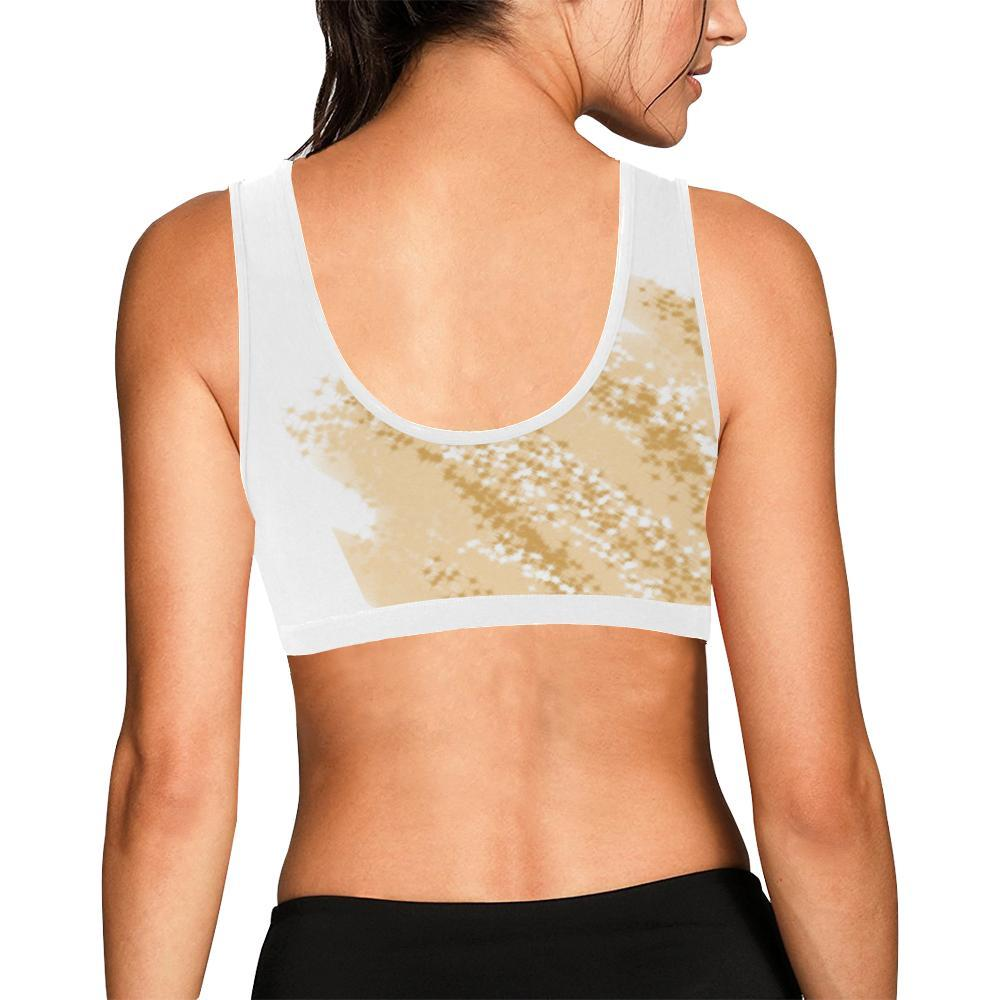 Golden Wheat Women's Sports Bra - dianadu-designs
