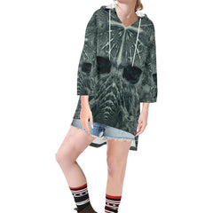 Hidden Guardian Women's V-neck Step Hem Tunic Hoodie - dianadu-designs