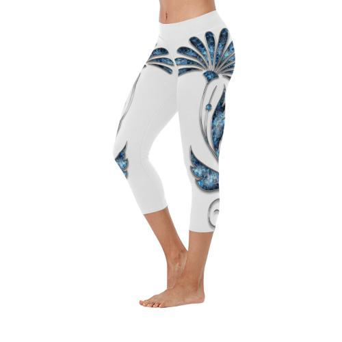 Jeweled All-Over Low Rise Capri Leggings - dianadu-designs