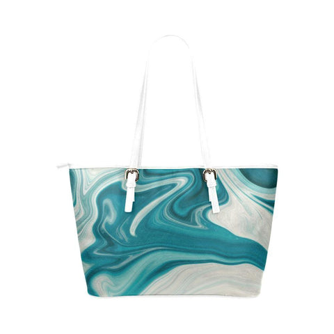 Lava Flow Leather Tote Bag - dianadu-designs