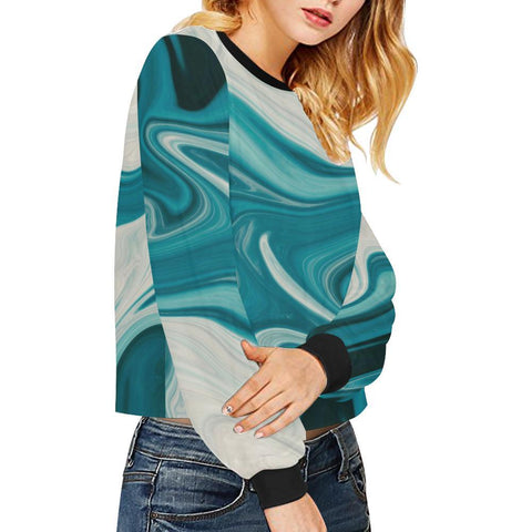 Lava Flow Women's Cropped Pullover Sweatshirt - dianadu-designs