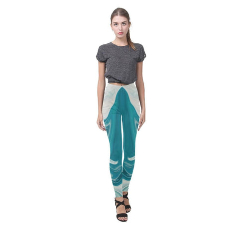 Lava Flow Women's High-Waist Leggings - dianadu-designs