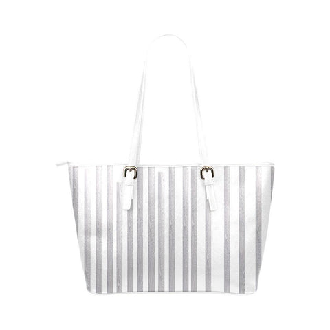 Linear Maze Leather Tote Bag - dianadu-designs
